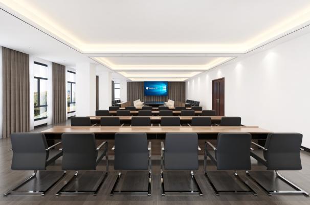 现代公司会议室 会议桌