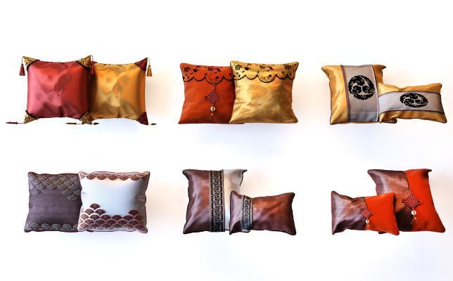 新中式枕头抱枕组合