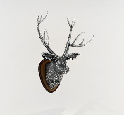 新古典鹿头墙饰