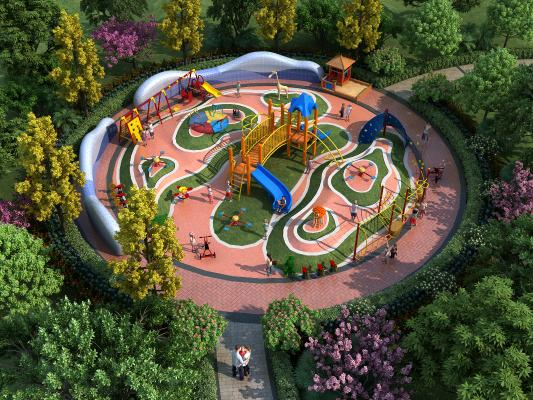 現代园林儿童游乐园 游乐场 游乐器械