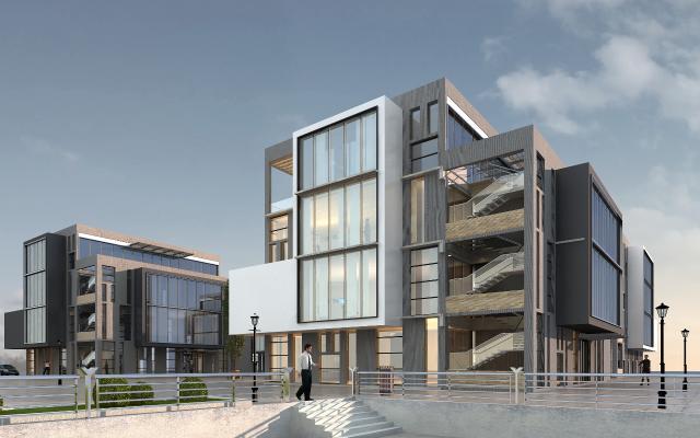 现代办公楼外观