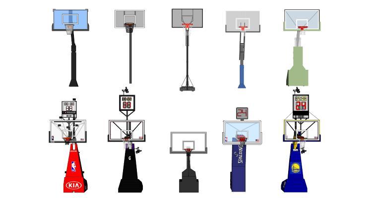 现代篮球架