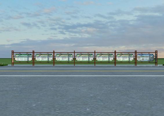 新中式仿古公交站台 公交站牌
