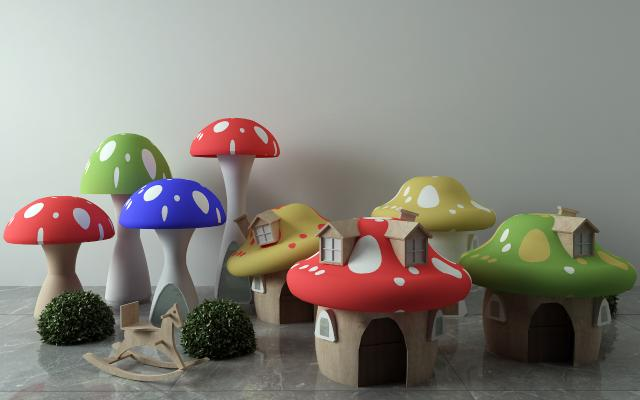 现代蘑菇玩具