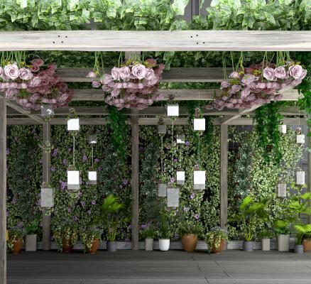 现代葡萄架 花架 花瓶花卉
