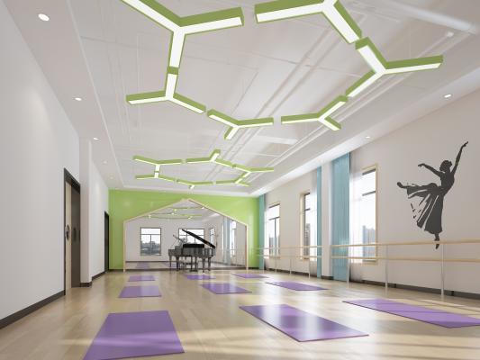 現代幼兒園 音體室 舞蹈房