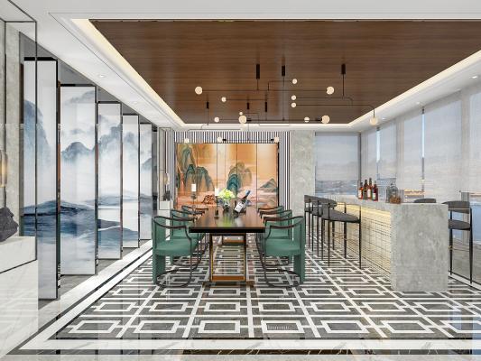 新中式家居餐廳
