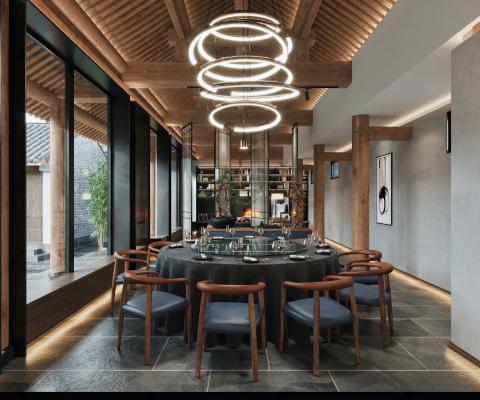 新中式酒店会所餐厅