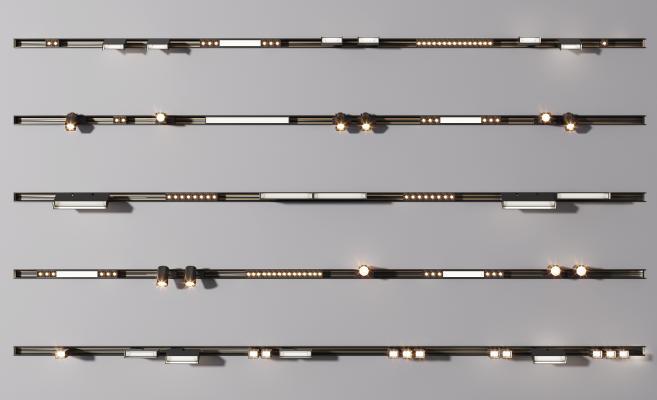 现代轨道磁吸灯 射灯组合 磁吸灯 轨道射灯