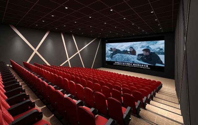现代电影院 放映室