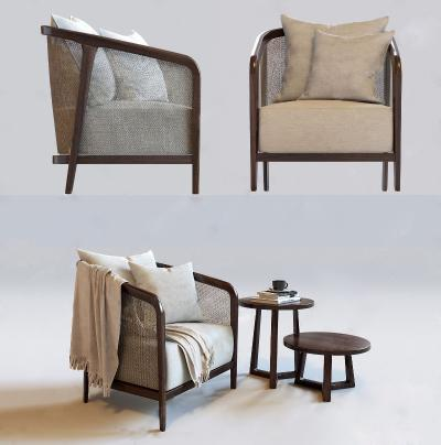 新中式沙□ �l椅