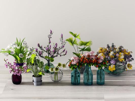 现代花架 盆栽