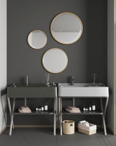 现代风格卫浴柜架 洗脸台 洗浴用品