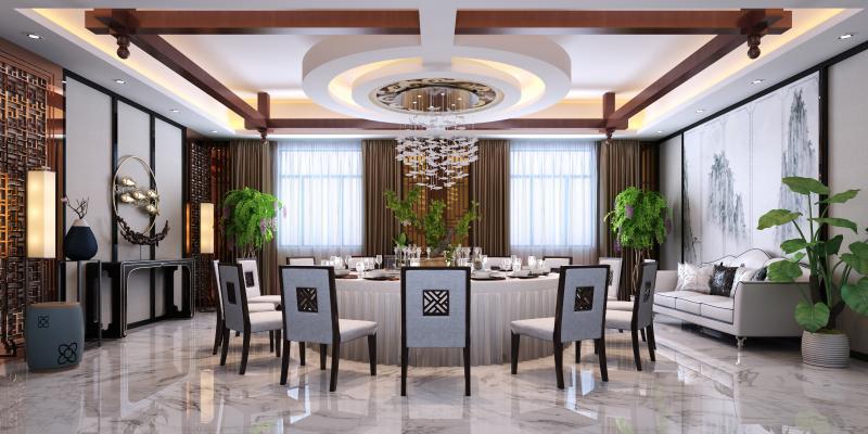 中式包间 餐厅