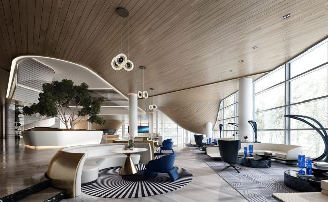 集艾设计现代售楼处接待区
