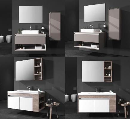 现代北欧浴室柜组合