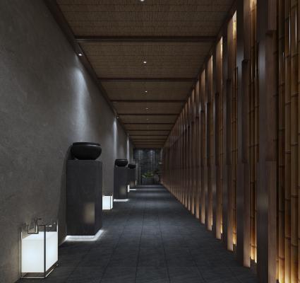 中式过道 走廊