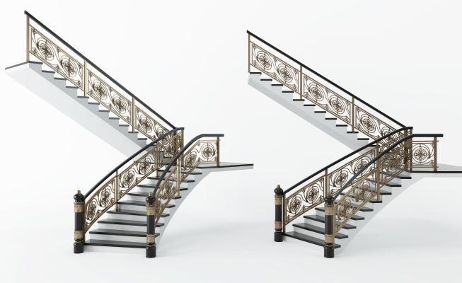 简欧铁艺楼梯