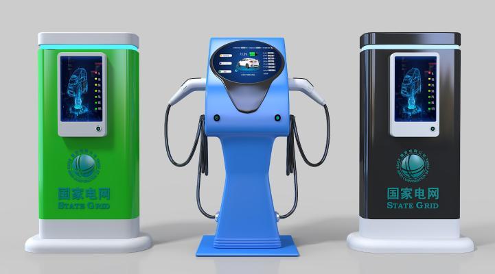 现代电动汽车充电桩 新能源充电桩 充电站