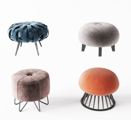 现代布艺床尾凳 沙发凳 沙发