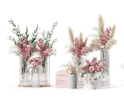 现代花艺 花瓶 花卉
