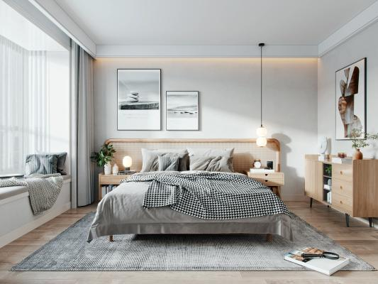 北欧现代卧室