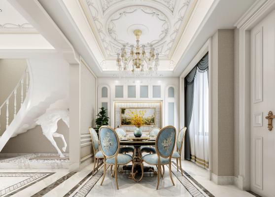 法式别墅客餐厅