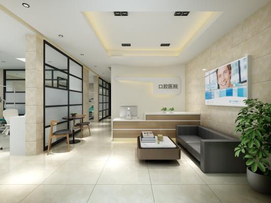 现代牙医诊所 牙科门诊室 牙科医院大厅
