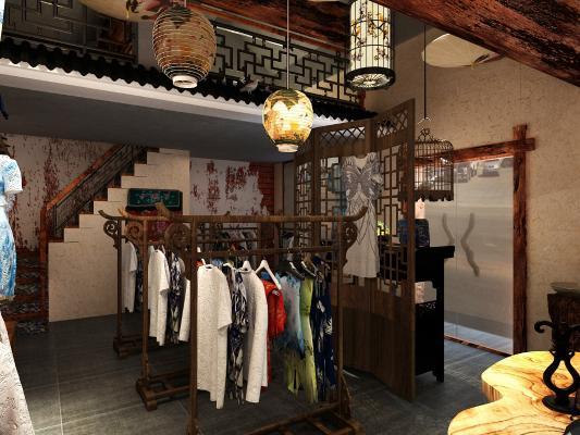 中式服装店,旗袍店