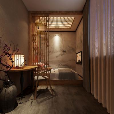 日式酒店客房 台灯