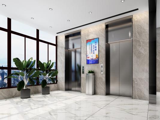 现代电梯厅 过道