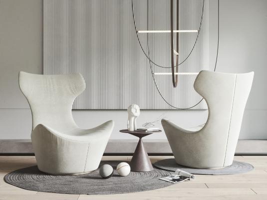 意大利B B Italia现代单人沙发