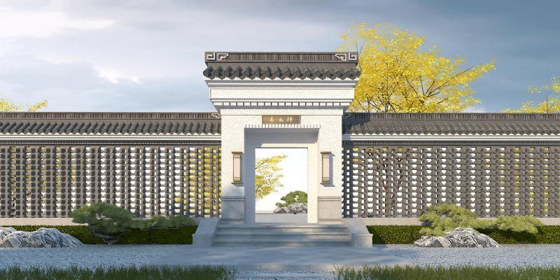 中式入口大门