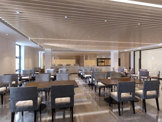 现代酒店自助餐厅
