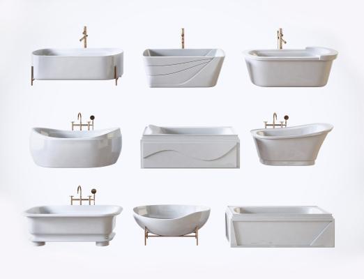 现代浴缸浴盆组合
