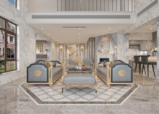 法式別墅客廳