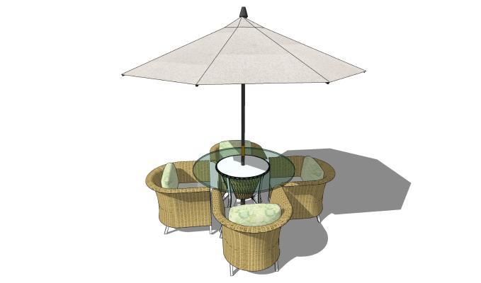 现代风格户外椅 休闲桌椅 遮阳伞