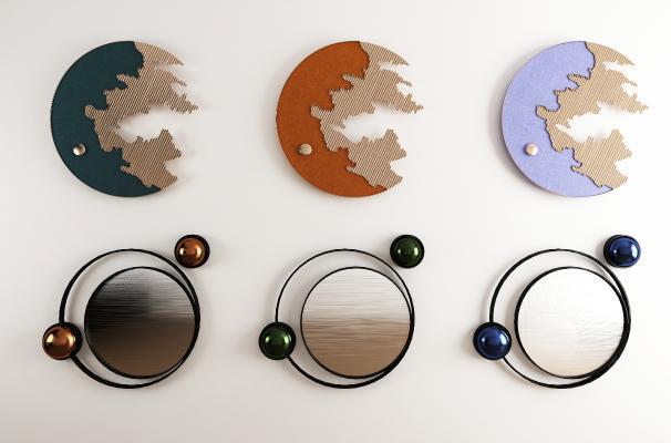 现代抽象挂画组合