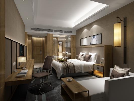 现代简约风格酒店宾馆客房