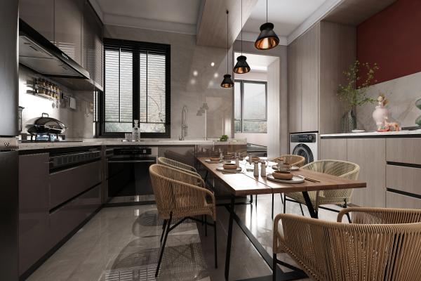 现代厨房组合