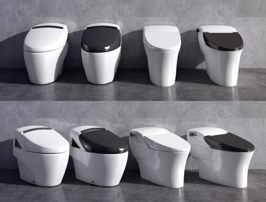 现代马桶 坐便器 智能马桶