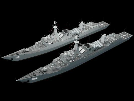 工业风军舰 军事 舰艇 驱逐舰
