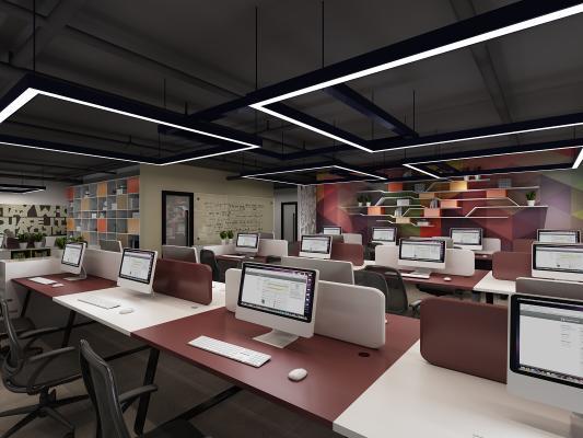 现代办公室 办公桌椅 办公用品