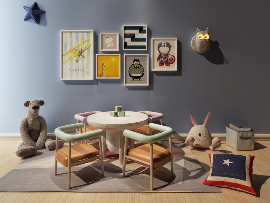现代儿童桌椅组合