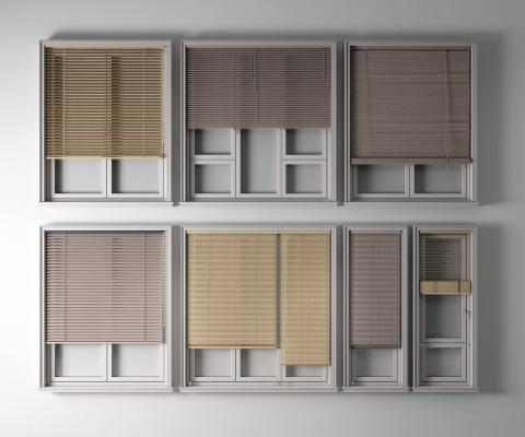 现代窗户 百叶帘
