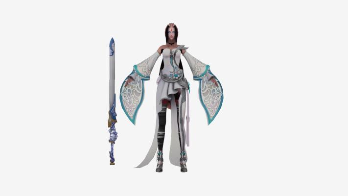 现代游戏 大剑美女