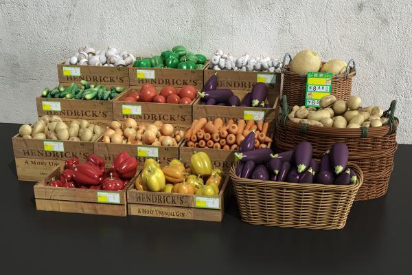 现代蔬菜果篮
