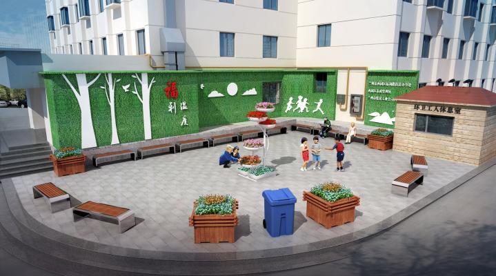 现代室外广场