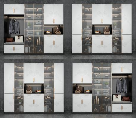 现代鞋柜装饰柜组合