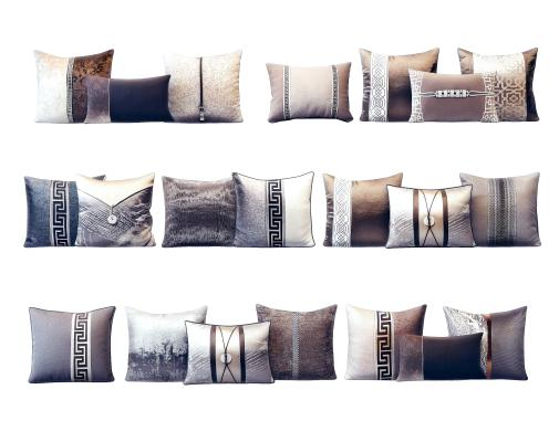 新中式奢华抱枕组合